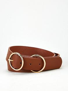 v-by-very-ola-double-buckle-belt-tan