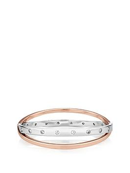 buckley-london-silver-and-rose-gold-tone-rosa-bangle-withnbspfree-gift-bag