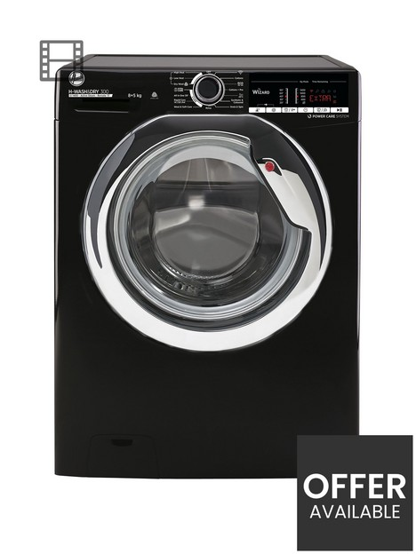 hoover-h-wash-amp-dry-300-h3ds4855tacbe-8kg-wash-5kg-dry-washer-dryer-with-1400-rpm-spin-black