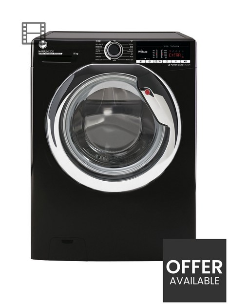 hoover-h-wash-300-h3w495tacbe-80nbsp9kg-load-1400-spin-washing-machine-black