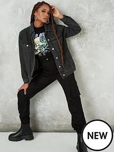 missguided-missguidednbspoversized-denim-jacket-black