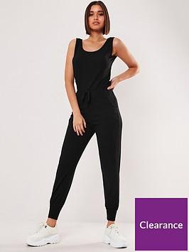 missguided-missguidednbsprib-sleeveless-jogger-tie-waist-jumpsuit-black