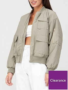 missguided-missguided-oversized-pocket-bomber-jacket-olive