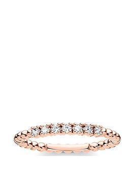 thomas-sabo-thomas-sabo-rose-gold-plated-sterling-silver-and-cubic-zirconia-stacking-ring