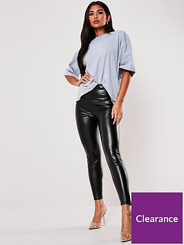 missguided-missguided-faux-leather-pin-tuck-legging-blacknbsp