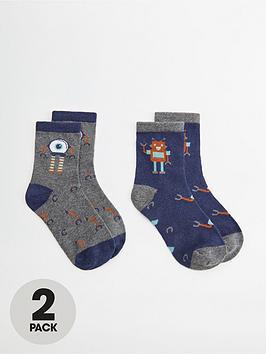 mango-boys-2-pack-robot-socks-navy