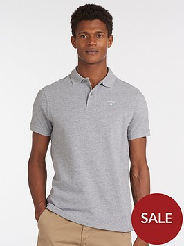 barbour-sports-polo-shirt--grey