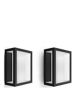 philips-hue-impress-wide-white-amp-colour-ambiance-led-smart-outdoor-wall-light-double-pack
