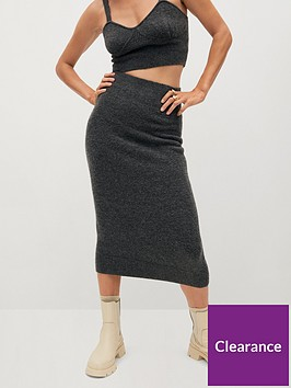 mango-knitted-midi-skirt-grey