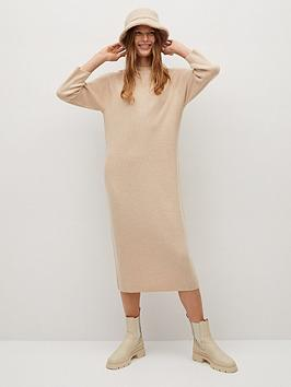 mango-jersey-midi-dress-beige