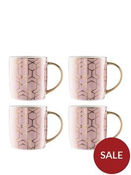waterside-4-piece-tallulah-pink-gold-mug-set