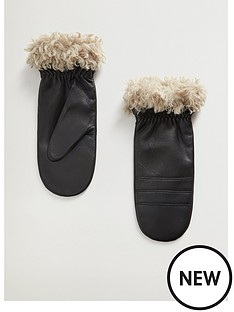 mango-leather-shearling-gloves
