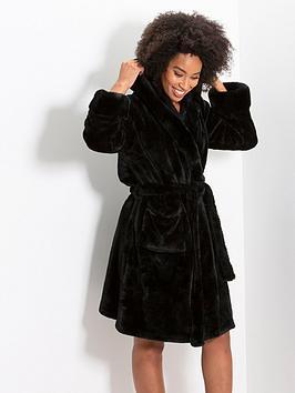 pour-moi-faux-fur-trim-dressing-gown-black