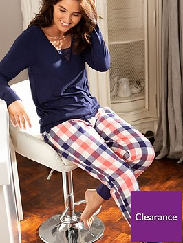 pour-moi-cosy-check-cuffed-lurex-trouser