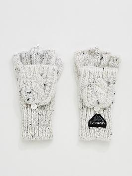superdry-gracie-cable-gloves-white