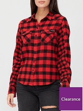 superdry-buffalo-flannel-shirt-red
