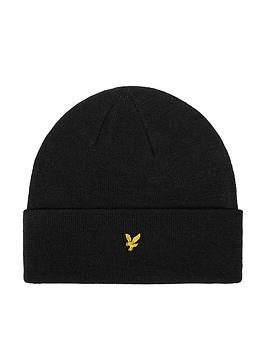 lyle-scott-beanie-hat-black