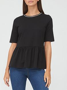 v-by-very-trim-detail-peplum-t-shirt-black