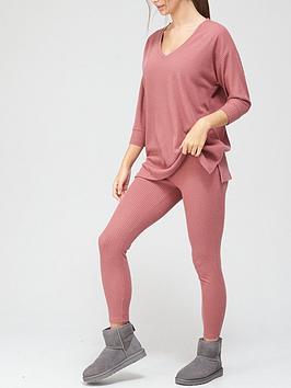 v-by-very-slouchy-v-neck-lounge-set-pink