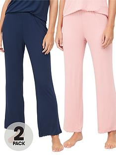 v-by-very-valuenbsp2-pack-lace-trim-trouser-pinknavy