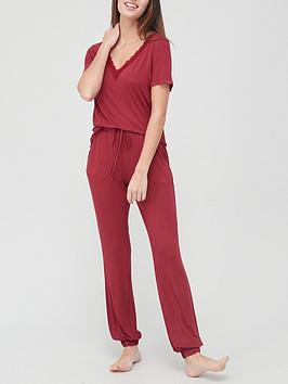 v-by-very-lace-trim-t-shirt-pyjamas-red