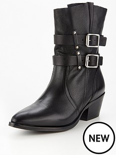 allsaints-harriet-leather-double-buckly-slouchy-ankle-boots-black