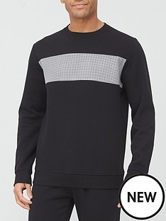 very-man-dogtooth-panel-sweat-black