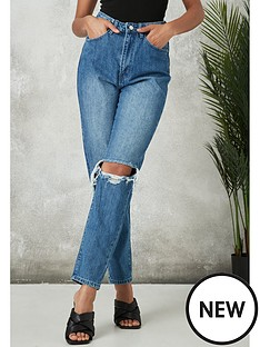 missguided-missguided-double-knee-rip-riot-jean-blue