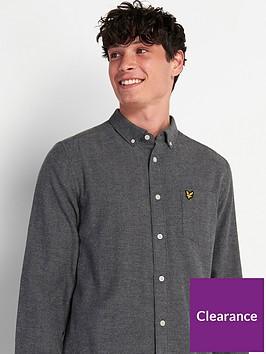lyle-scott-brushed-herringbone-shirt-grey