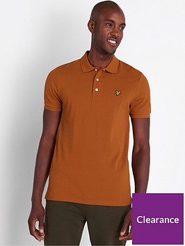 lyle-scott-plain-polo-shirt-caramel