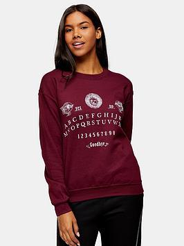 topshop-alphabet-sweatshirt--nbspburgundy