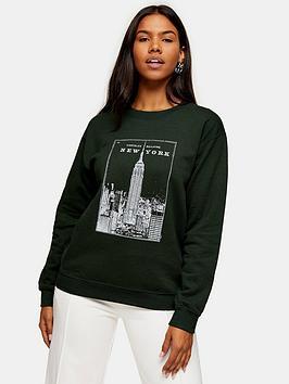 topshop-new-york-chrysler-sweatshirt-greennbsp