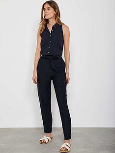 mint-velvet-navy-belted-utility-trousers
