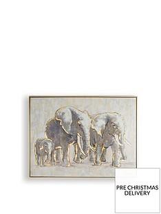 graham-brown-metallic-elephant-family-handpainted-framed-canvas
