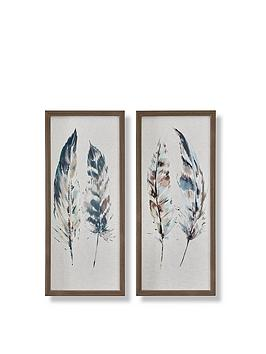 graham-brown-set-of-2-painterly-feathers-framed-canvas