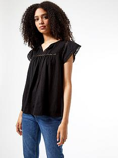 dorothy-perkins-victoriana-cotton-top-blacknbsp