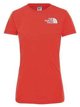 the-north-face-easy-tee-red
