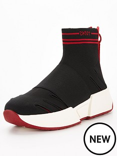 dkny-marini-logo-sock-trainers-multi