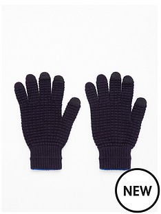 ted-baker-machina-knitted-gloves-navy