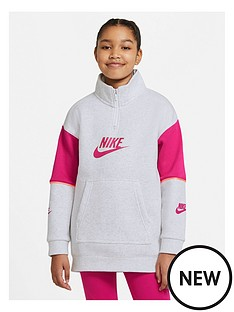 nike-girls-nswnbspfleece-half-zip-pullover-grey-heather