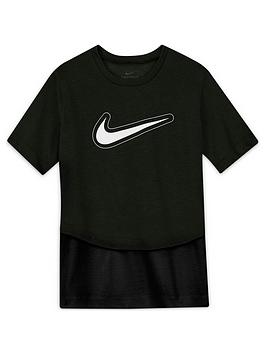 nike-girlsnbspdry-trophy-short-sleevenbspt-shirt-blackwhite