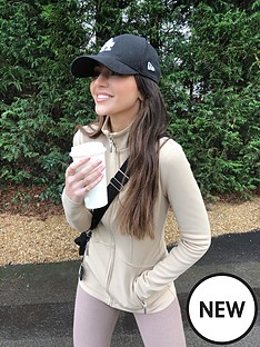 michelle-keegan-fitted-zip-through-jacket-camel