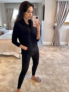 michelle-keegan-textured-hoodie-co-ord-black