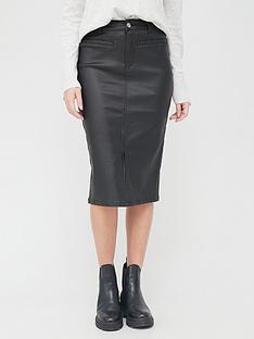 v-by-very-coated-denim-skirt-black