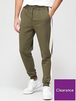 very-man-colour-block-jogger-khaki