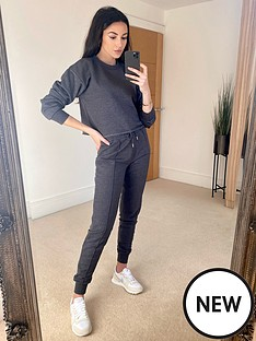 michelle-keegan-raw-edge-sweater-and-crop-vest-set-charcoal