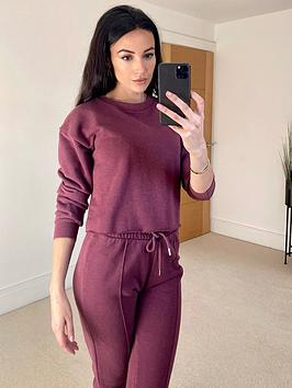 michelle-keegan-raw-edge-sweater-amp-crop-vest-set-aubergine