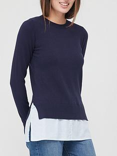 v-by-very-value-crew-neck-shirt-detail-knitted-jumpernbsp-navy