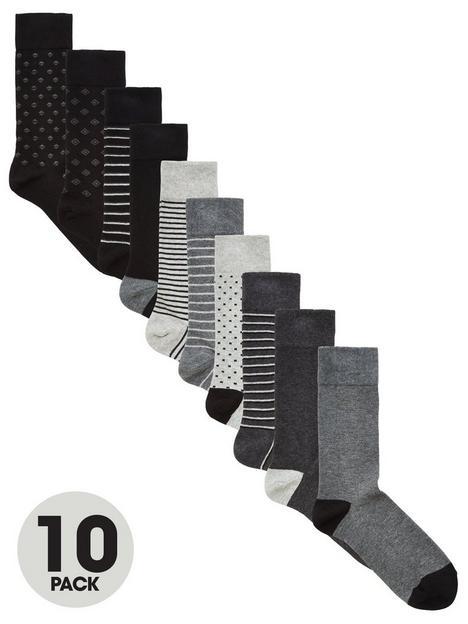 very-man-fresher-for-longer-10-pack-pattern-socks-blackgrey