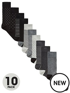 very-man-sock-mix-10-pack-blackgreynbsp